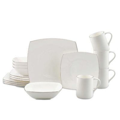 Platinum Dinnerware 16 Piece Set