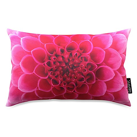 Tropical Bloom Pink Oblong Throw Pillow