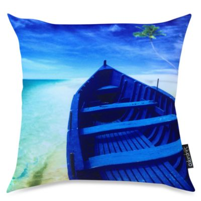 Blue Sea Toss Pillow