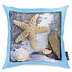 Beach Treasure Blue Toss Pillow