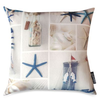 Costal Collage Multi-Colored Toss Pillow