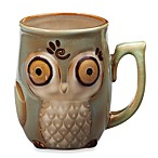 Gibson Home Nature's Owl 12-Ounce Mug in Blue
