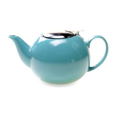 Ceramic 24-Ounce Teapot with Infuser in Turquoise