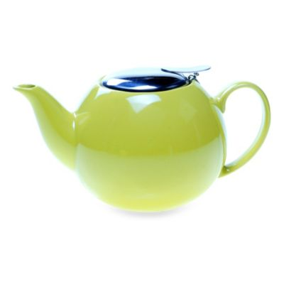 Ceramic 24-Ounce Teapot with Infuser in Lemon Grass