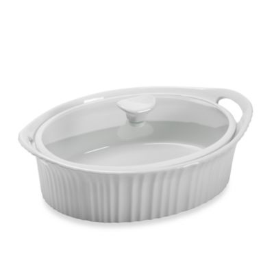 CorningWare® French White® III 2 1/2 -Quart Casserole Dish with Quiet Cover