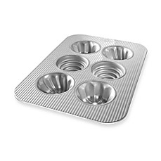 USA Pan 6-Cavity Variety Mini Fluted Cake Pan