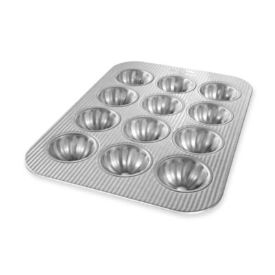 USA Pan 12-Cavity Mini Fluted Cupcake Pan