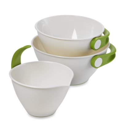 Chef n' Sleek® Store Pop and Pour 3-Piece Mixing Bowl Set