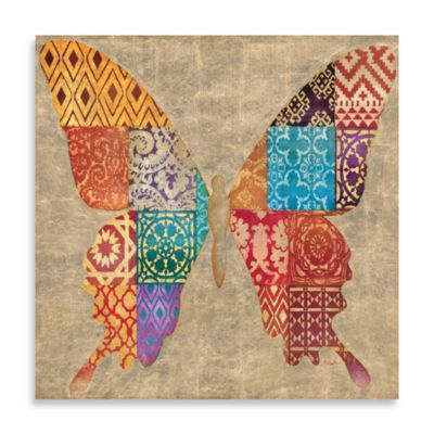 Patchwork Butterfly 32-Inch x 32-Inch Canvas Print