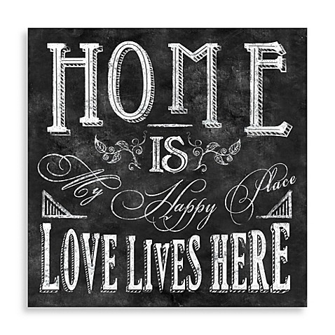 Home Is My Happy Place Wall Art