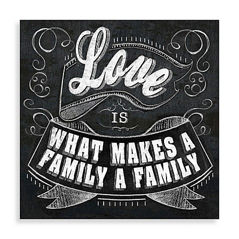 Love Is What Makes A Family Wall Art