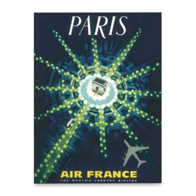 Fly to Paris Wall Art