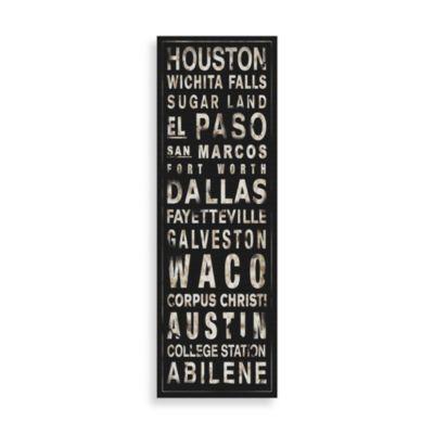 Texas Places Black/White Wall Art