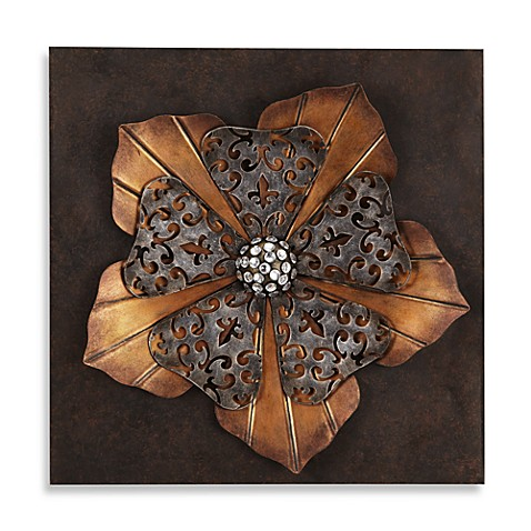 Angelica Metallic Blossom 3D Wall Art