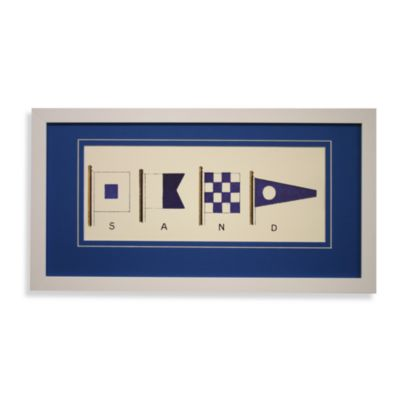 Nautical Flags Sand Wall Art