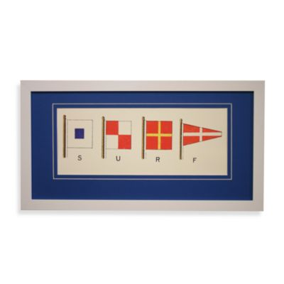 Nautical Flags Boat Wall Art insurf