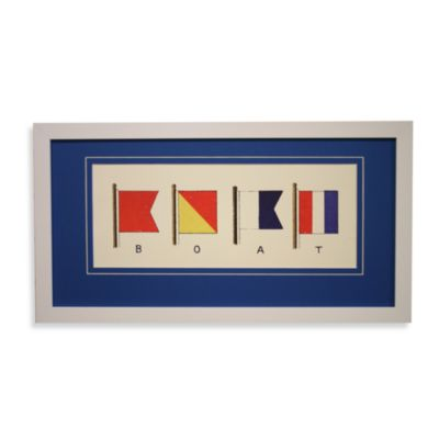 Nautical Flags Boat Wall Art in Boat