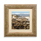 Beach Grass Surf Framed 22-Inch x 22-Inch Art