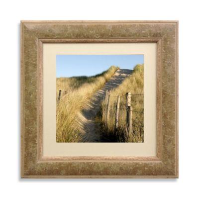 Fenceline Pathway Framed 22-Inch x 22-Inch Art