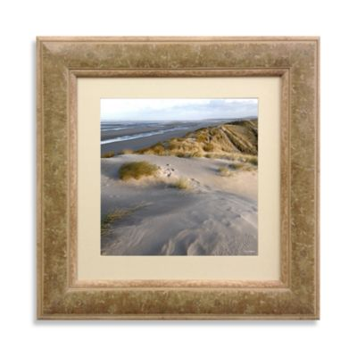 Long Beach View Framed 22-Inch x 22-Inch Art