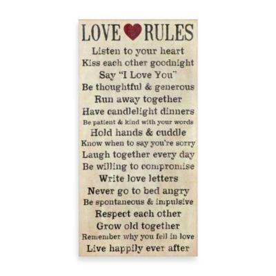 Love Rules Wall Art