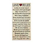 Love Rules Wall Art