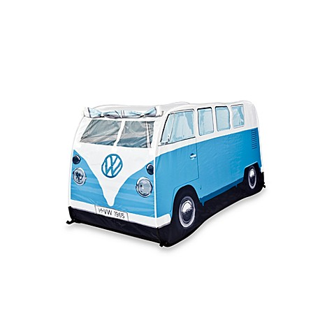 VW Campervan Children's Pop-Up Play Tent in Blue