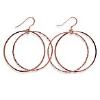 Charlene K 14K Rose Gold Vermeil 1 1/2-Inch Double Hoop Earrings