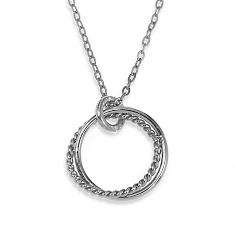 Charlene K Sterling Silver Twisted Circles Pendant