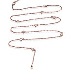 Charlene K 14K Rose Gold Vermeil Diamond by the Yard 41-Inch Necklace