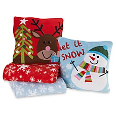 Holiday Pillow/Throw Combo Sets