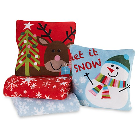 Holiday Pillow/Throw Combo Sets - Bed Bath & Beyond