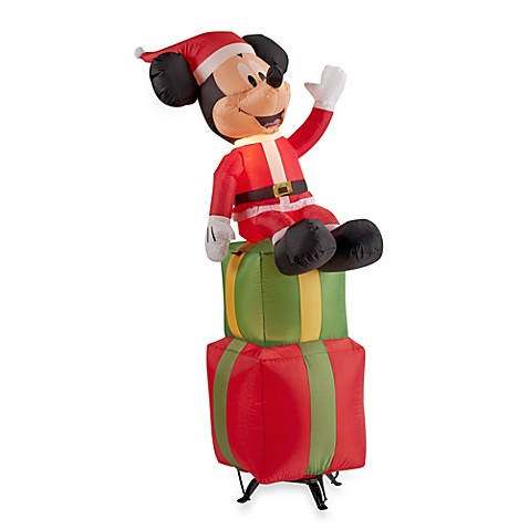 Inflatable Outdoor 6-Foot Mickey on Present