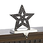 Silver Gem Stocking Hanger Star