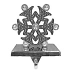 Silver Gem Stocking Hanger Snowflake