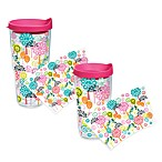 Tervis® Peace Sign Tree Wrap Tumblers with Fuchsia Lid
