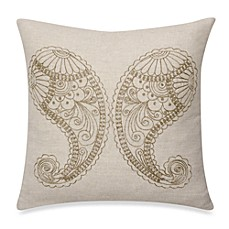 Taj 18-Inch Paisley Square Toss Pillow