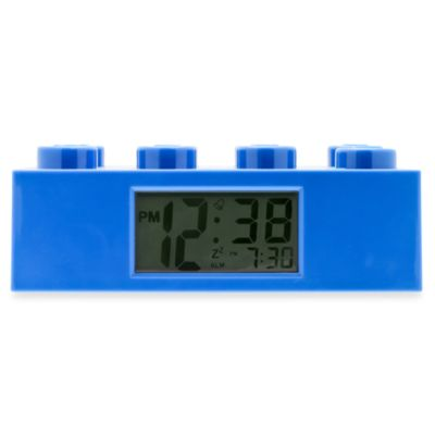 LEGO® Blue Brick Alarm Clock
