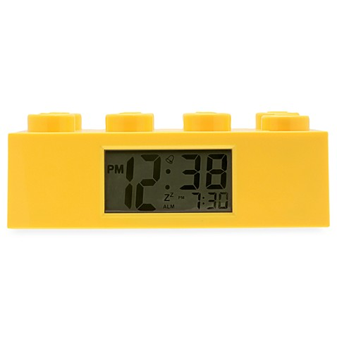 LEGO® Brick Alarm Clock in Yellow