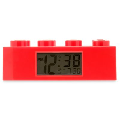 LEGO® Brick Alarm Clock in Red