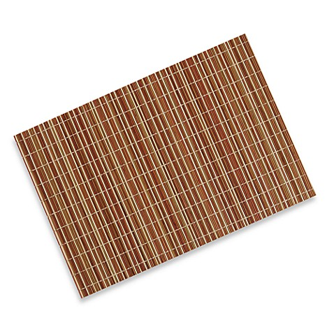 Bamboo Stripe Placemat - Rust