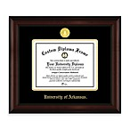 University of Arkansas 22K Gold-Plated Medallion Diploma Frame