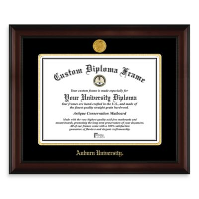 Auburn University 22K Gold-Plated Medallion Diploma Frame