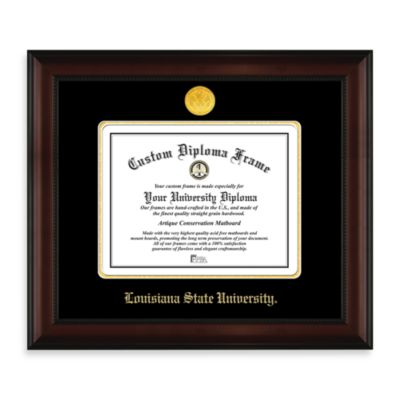 Louisiana State University 22K Gold-Plated Medallion Diploma Frame