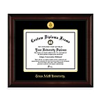 Texas A & M University 22K Gold-Plated Medallion Diploma Frame