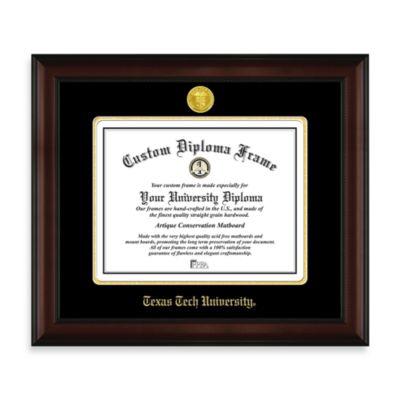 Texas Tech University 22K Gold-Plated Medallion Diploma Frame