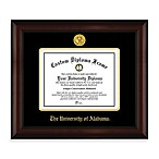 University of Alabama 22K Gold-Plated Medallion Diploma Frame