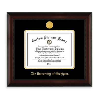 University of Michigan 22K Gold-Plated Medallion Diploma Frame