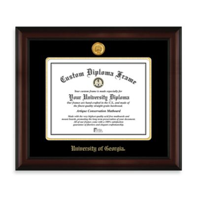 University of Georgia 22K Gold-Plated Medallion Diploma Frame