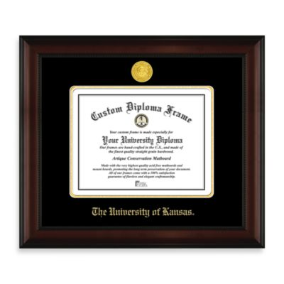 University of Kansas 22K Gold-Plated Medallion Diploma Frame